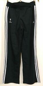ADIDAS Warm Up Pants USA Gymnastics Youth XL 13 14 Boy Girl  Black White Stripe