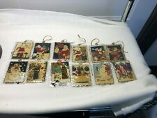 1994 Coca-Cola Christmas Stamp Ornament-Set of 12 Limited Edition of only 2500