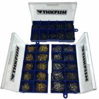 Fishing Hooks Carbon Steel Carp Kit Jigging Bait 10 Sizes 500 Pieces With Box