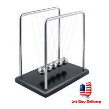 Pro Newtons Cradle Fun Steel Balance Ball Physics Science Pendulum Desk Toy Gift