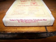 TODAY'S TOP HITS FEATURING TELEPHONE MAN 1977 FANTASTIC F 8 TRACK TAPE TESTED