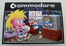 COMMODORE 64 VIC 20 COMMODORE NATALE ORIGINALE cartolina di natale Fan Art