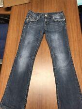Grace L A Blue Denim Jeans With Embellishments 28 X 29 Boot Cut