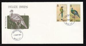 Belize 1977 Fleetwood FDC Birds-Motmot, Turkey, unaddressed, sc#389/391