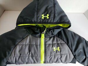 Under Armour Kids Coldgear Storm Coat Jacket BLACK & GRAY SIZE 3T