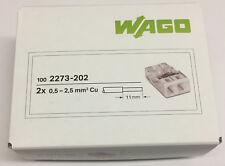WAGO Compact-steckklemmen 2x2 5mm² weiß 2273-202