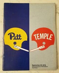 Pittsburgh Panthers Temple Football Program 9/25 1976 Tony Dorsett TD Heisman