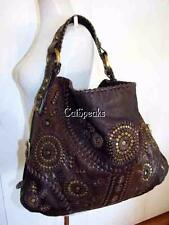 ISABELLA FIORE KOOL WHIP YVONNE LARGE LEATHER STUD HOBO BAG 2006 COLLECTION