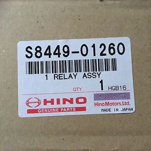 Hino Truck Relay Assembly S8449-01260 NEW GENUINE PART