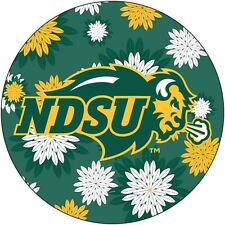 "NORTH DAKOTA STATE BISON 4"" FLORAL DESIGN DECAL-NDSU DECAL STICKER-NEW FOR 2016!"
