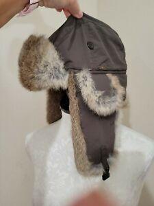Wigens Swedish Rabbit Fur Aviator Trapper hat M/L size 58