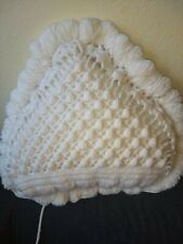 "Hand made Crochet heart shape Pillows.Size 15""x15""$50 (free shipping).Made in US"