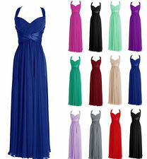 Lace straps Long Prom Homecoming Dresses Bridemaid Ball Gowns Custom Size 6-18++