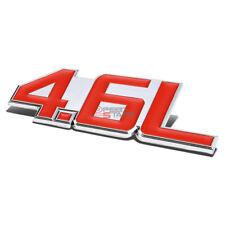AUTO METAL BUMPER TRUNK GRILL FENDER EMBLEM STICKER BADGE CHROME RED 4.6 4.6L