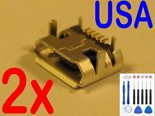 2x Lot Micro USB Charging Port Charger for Asus Memo Pad ME173X K00B Tablet USA