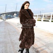 Pieced Rex Rabbit Fur Jacket / Overcoat, Real Fur Coat, Winter Fur Coat