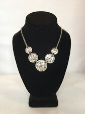 Milor Italy Statement Necklace Choker Stainless Steel EUC Signed Silver Tone