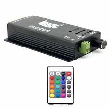 24 Key Remote+Metal 2 Channels Music Sound IR Controller for RGB LED Strip Light