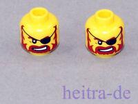 LEGO - 2 x Piraten Kopf mit Augenklappe / Brickbeard / 3626bpb0323 NEUWARE (a29)