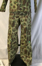 RARE 1943 WWII US ARMY HBT Camouflage Trousers Uniform Pants w/cutter tags 34X31