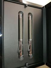 Graf von Faber Castell Guilloche Ciselé Brown fountain pen & rollerball pen set