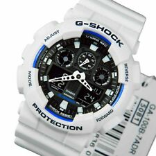 Casio G-Shock Mens Wrist Watch GA-100B-7A  GA100B-7A Digit-Analogue White-Black