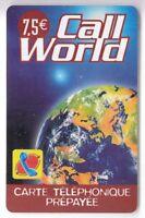 FRANCE  TELECARTE / PHONECARD  PREPAYEE .. 7€50 CALL WORLD ESPACE 12/2005 +N°