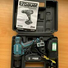 Erbauer ERI744COM 18V 2.0Ah Li-ion Cordless Combi Drill 2 x Batteries + Charger