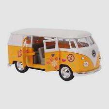 Yellow 1963 Scale Model VW Volkswagen Hippie Camper Van Bus Toy Boxed - 9329  @