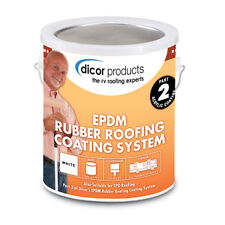 RV Dicor EPDM Rubber Roof Acrylic Coating White 1 gal RP-CRC-1