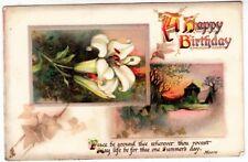 * RAPHAEL TUCK - Birthday Series #178 - Embossed - 1908 used postcard