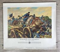 Vintage 1953 Remember Your Regiment Department of U.S. Army Poster No. 21-40