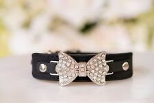 NEW! LUXURY Enchanted Pets Black Beauty Rhinestone Collar for Dogs Cats Pets XS