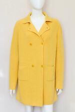 New LORO PIANA baby cashmere yellow Cappotto cardigan coat jacket IT46 UK14 US10