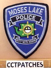 MOSES LAKE, WASHINGTON POLICE SHOULDER PATCH WA