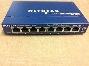 Netgear Switch ProSafe FS108 8 Port 10/100 Mbit/s Fast Ethernet ohne Netzteil