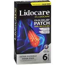 Blue-Emu Lidocare Arm, Neck - Leg Pain Relief Patch 6 ea (Pack of 5)