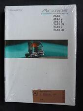 Mercedes ACTROS 2653 Prospekt Brochure 12/98 - KONVOLUT 50 Stück OVP Paket