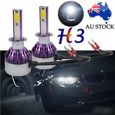 2X H3 LED CREE HEADLIGHT 520W FOG DRIVING LIGHT BULB CAR UTE 4WD DRL LAMP GLOBE