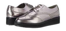 Carvela Ladies Shoes Size 5 Brogues Silver Gunmetal Lace Up Kurt Geiger Shoe NEW