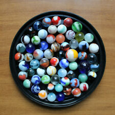 Mixed Lot of 63 Assorted Marbles Antique Vintage Glass