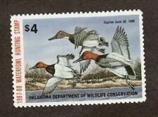 OK8 - Oklahoma State Duck Stamp.  Single  MNH.OG. #02 OK8