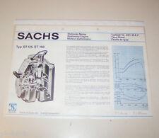 Typenblatt / Technische Daten Sachs Stationär Motor ST 125, ST 150 - Stand 1974!