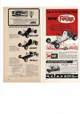 VINTAGE 1961 DART FUNSTER GO-CART MAK-KART GO-BOY KIT KART TWO ADS AD PRINT