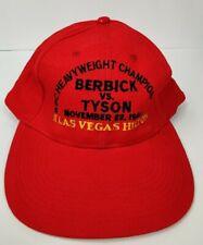 Vintage Berbick VS Tyson Las Vegas Hilton 1986 Boxing Souvenir Red Cap Hat Rare