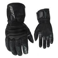 RST Jet CE Waterproof Motorbike Motorcycle Leather Gloves Black