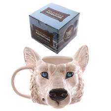 WOLF HEAD 3D STYLE SAFARI ANIMALS COFFEE MUG CUP NEW IN GIFT BOX