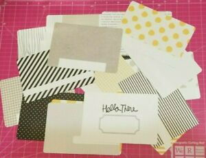 Project Life Lot of (20) 4 x 6 Midnight Edition kit cards Becky Higgins