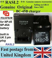 Genuine Fujifilm CARICABATTERIE, bc-45b np-45a FinePix j20 j27 j32 j35 j37 j40 z35 z31