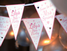 HEN PARTY BUNTING PERSONALISED HEN DO PINK BUNTING BANNERS PARTY DECORATIONS